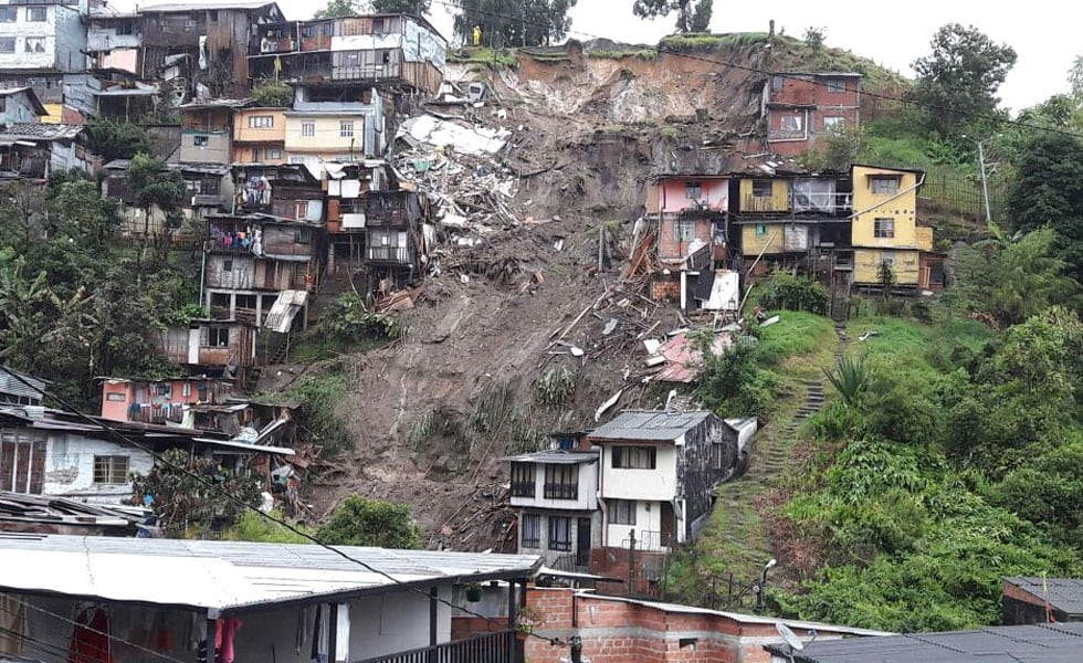 deslizamiento en Manizales