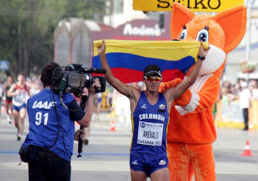 "Eider Arévalo, campeón mundial de marcha"""