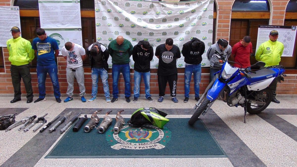 Capturados presuntos integrantes de banda dedicada al hurto de motocicletas en Medellín